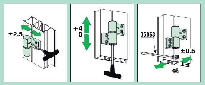 Инструкция по регулировке петлей алюминиевых дверей
