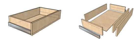 Как сделать один выдвижной ящик для стола своими руками