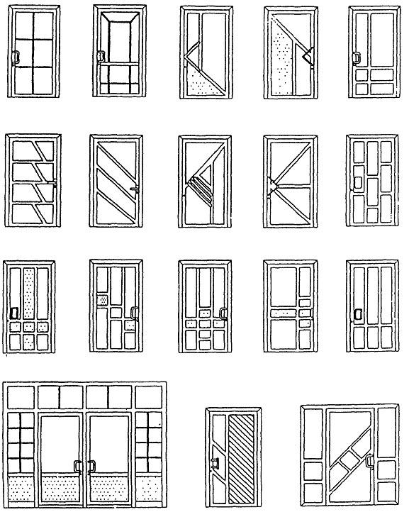рисунков дверных блоков с